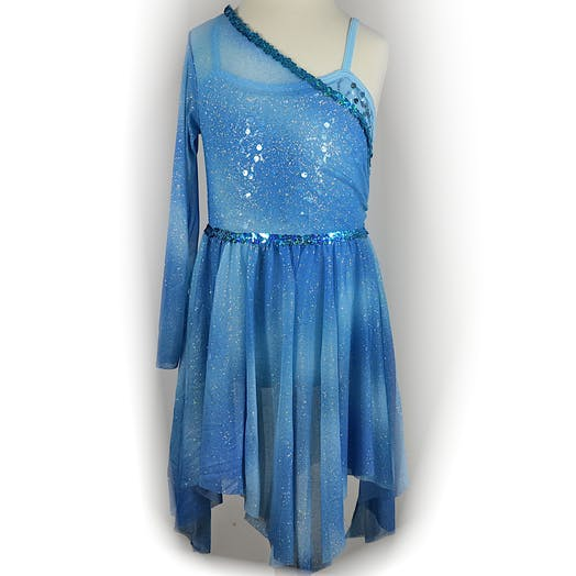 Blue Galaxy Lyrical costume for hire