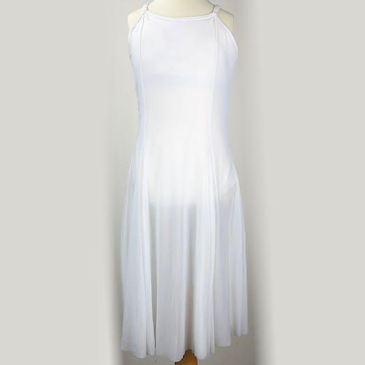 White Lyrical Dress Lyrical costume for hire