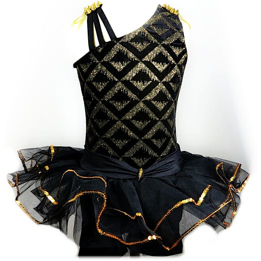 Black and Gold Tutu Ballet costume for hire