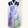 Purple tie-dye lyrical dress