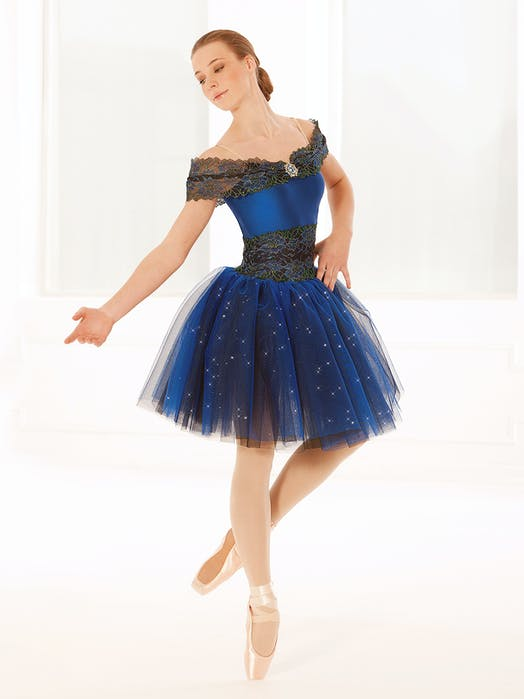 Blue and Black Tutu Ballet costume for hire