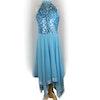 Blue Halterneck Lyrical Dress
