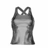 Metallic Silver Vest Top