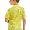 Male Sequin Dance Shirt - Yellow