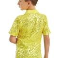 Male Sequin Dance Shirt - Yellow