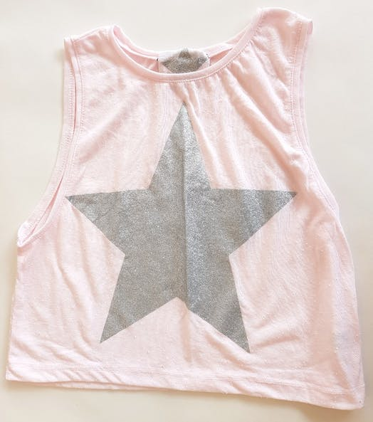 Silver Star Pink Top Pink costume for hire
