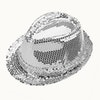 Sequin Trilby Hat - Silver