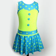 Blue and Green Polkadot