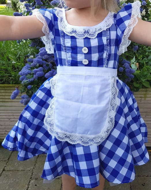 Blue Checked Dress Ballet costume for hire