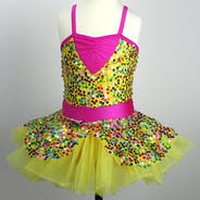 Yellow and Pink Sequin