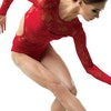 Lace Leotard - Red