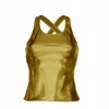 Metallic Gold Vest Top