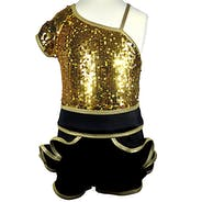 Black and Gold Unitard